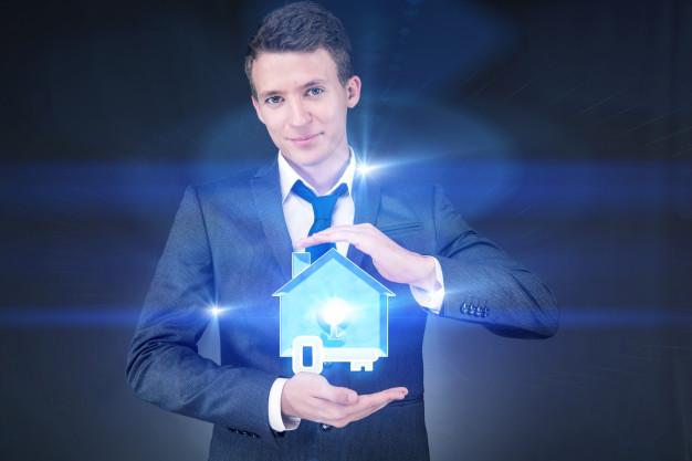 hombre negocios hermoso joven concepto hipoteca 85869 4666