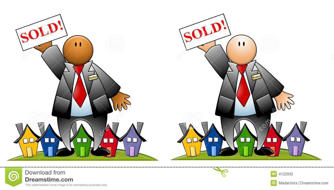 agente inmobiliario con la muestra y las casas vendidas 4122932 1