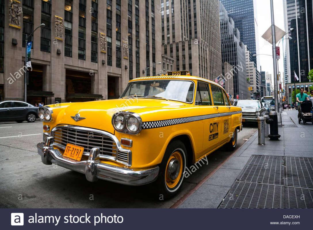 vintage amarillo taxi de nueva york nueva york eeuu dacexh 1
