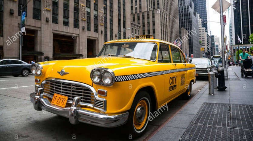 vintage amarillo taxi de nueva york nueva york eeuu dacexh