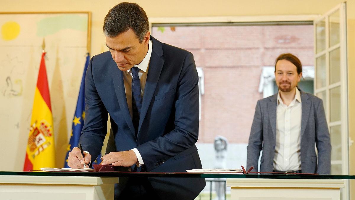 pedro sanchez pablo iglesias firman acuerdo para los presupuestos generales del estado para 2019 1539255731632