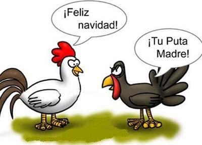 feliz navidad gallina pavo