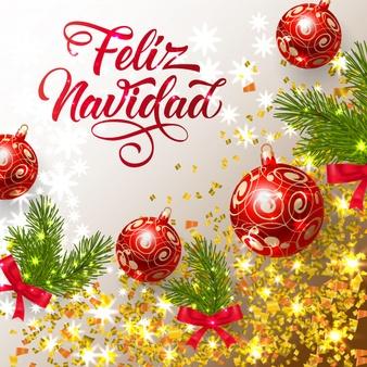 letras feliz navidad brillantes confeti brillantes adornos 1262 16808