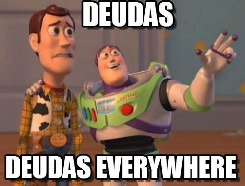 memes de deudas deudas everywhere