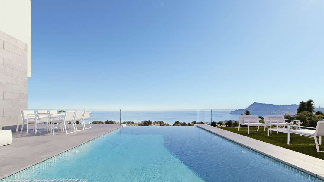 Nueva casa con vistas al mar en Altea